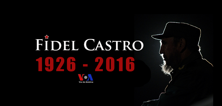 Voice of America (VOA) Latin American Division Spanish Service graphic posted as VOA Spanish Facebook page cover image following the death in 2016 of Cuban communist leader Fidel Castro. The Voice of America is part of the $800-million (average annual budget) federal U.S. Agency for Global Media (USAGM).